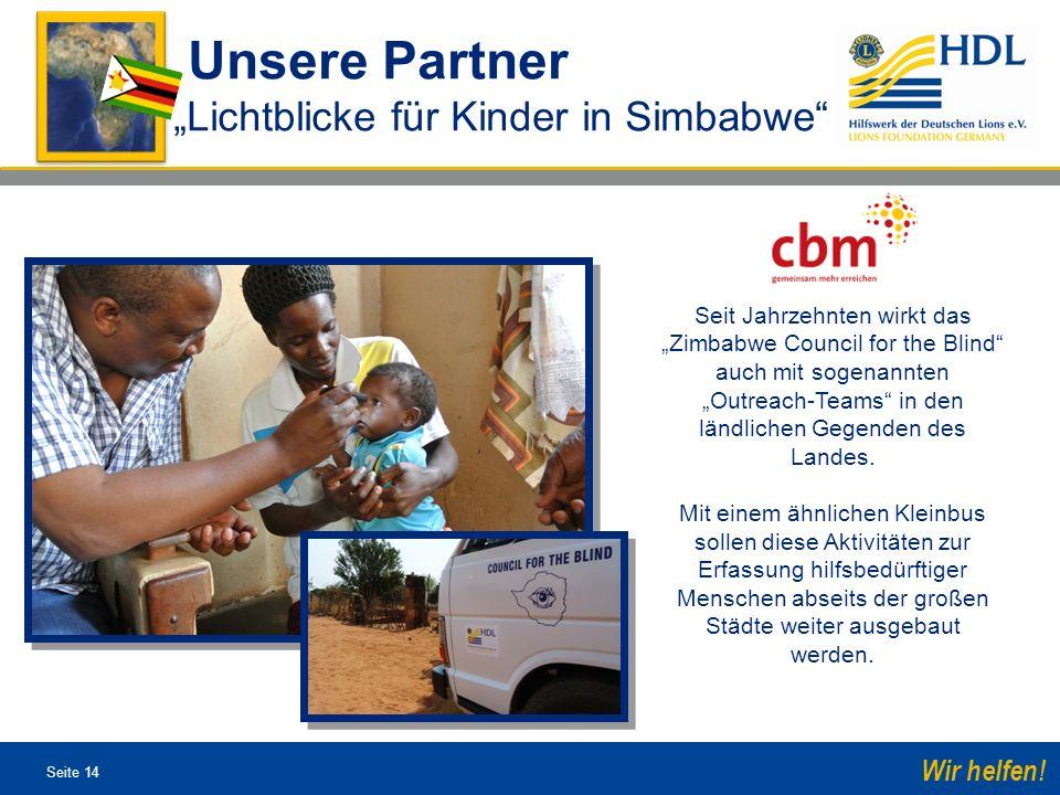 """Unsere Partner """"Lichtblicke für Kinder in Simbabwe"""