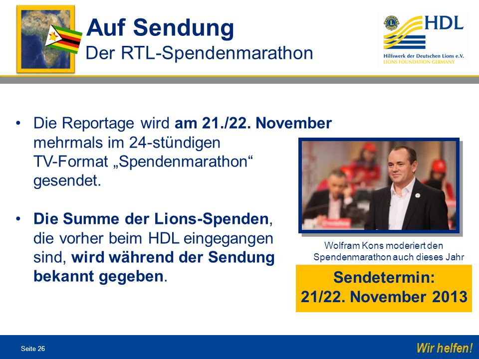 Sendetermin: 21/22. November 2013