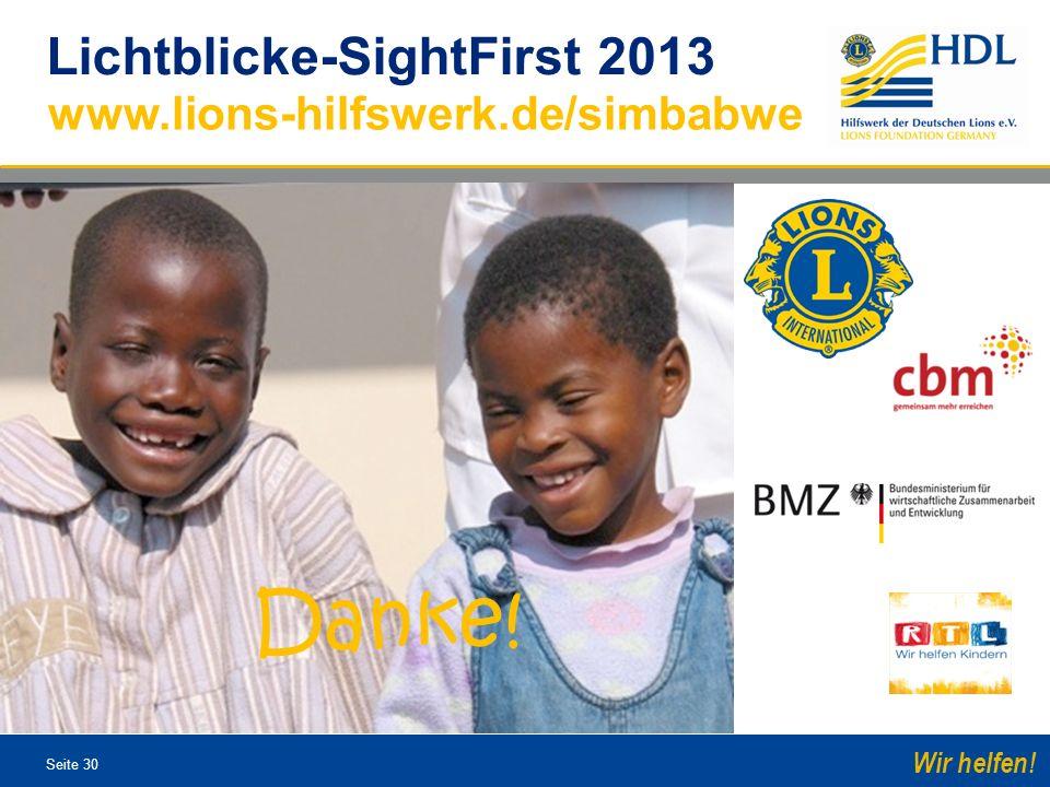 Lichtblicke-SightFirst 2013