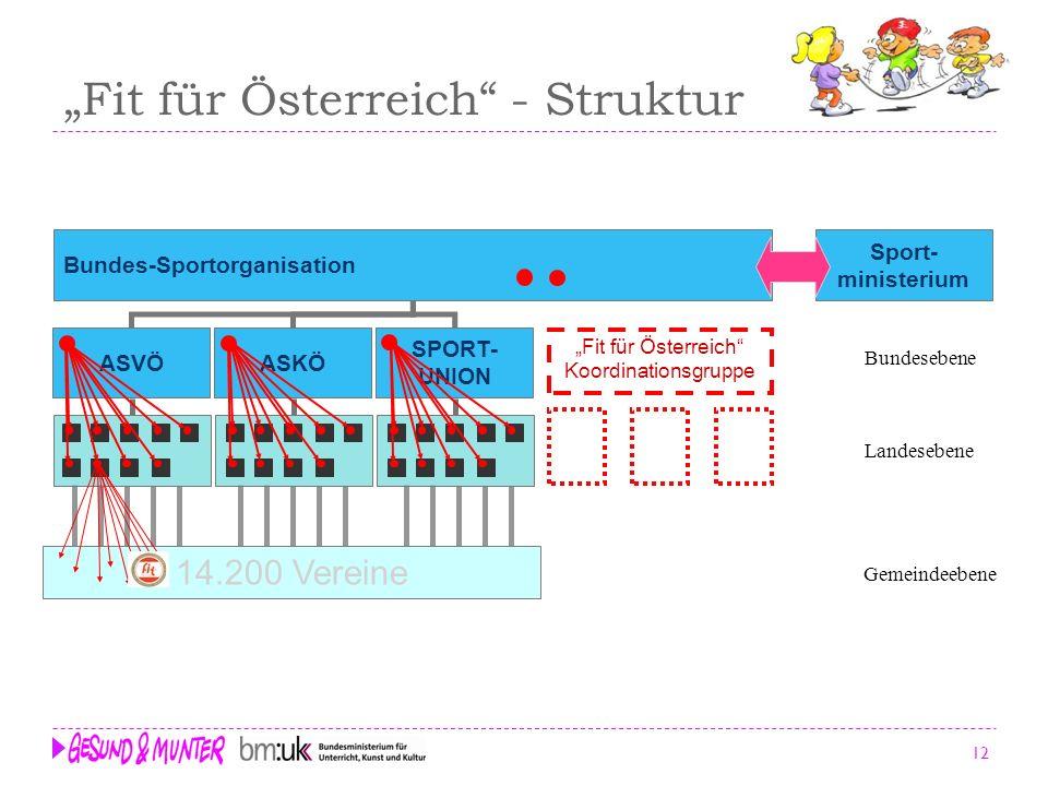 """""""Fit für Österreich - Struktur"""