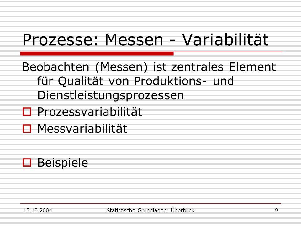 Prozesse: Messen - Variabilität