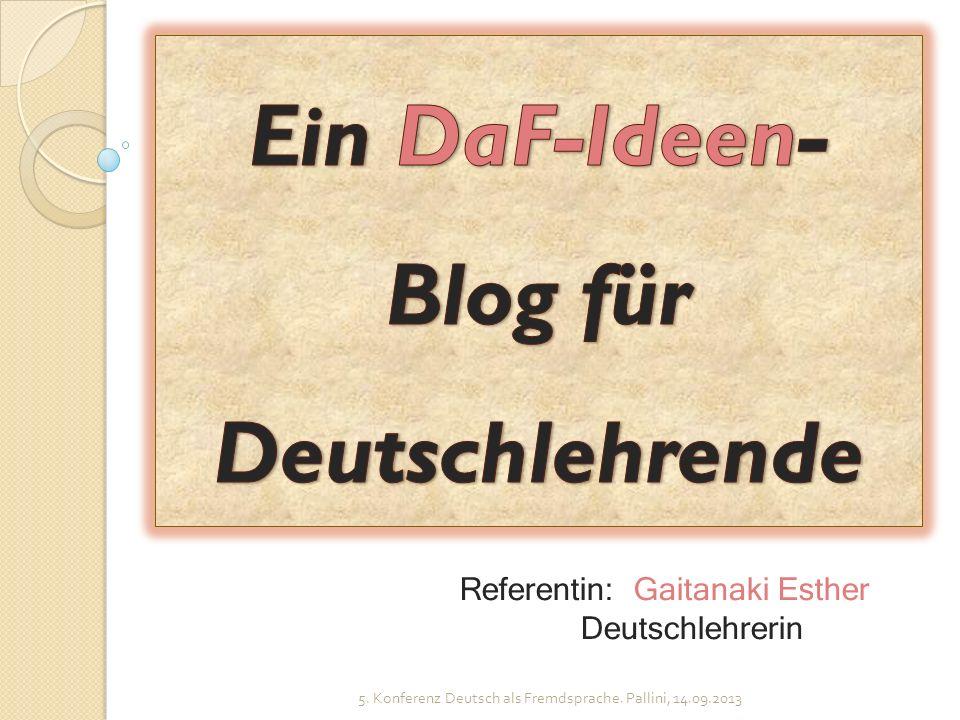 Ein DaF-Ideen-Blog für Deutschlehrende