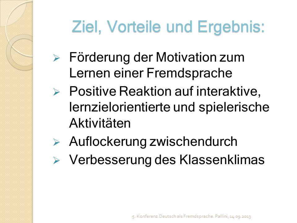 Ziel, Vorteile und Ergebnis: