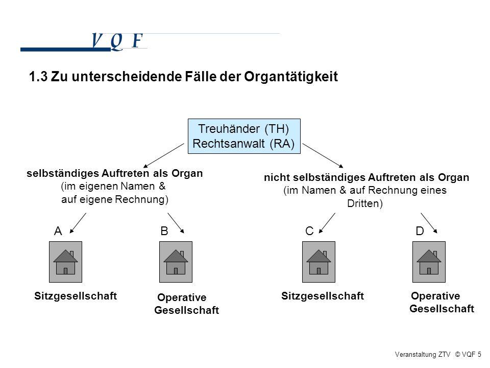 1.3 Zu unterscheidende Fälle der Organtätigkeit