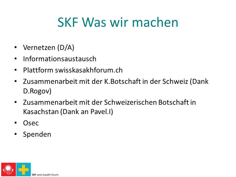 SKF Was wir machen Vernetzen (D/A) Informationsaustausch