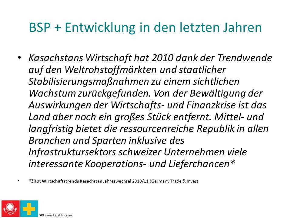 BSP + Entwicklung in den letzten Jahren