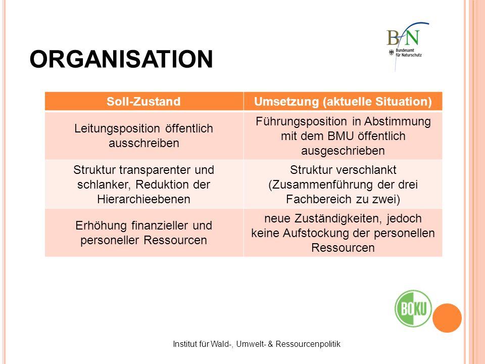 Umsetzung (aktuelle Situation)