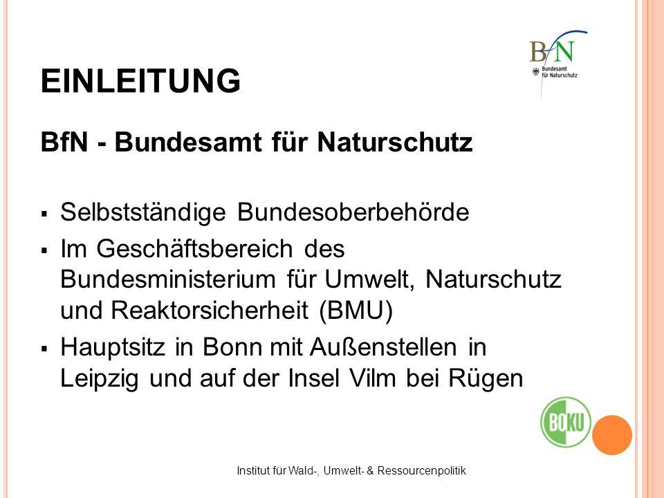 Institut für Wald-, Umwelt- & Ressourcenpolitik