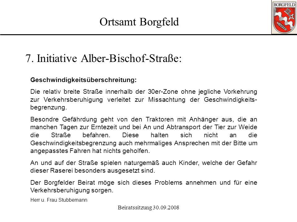 7. Initiative Alber-Bischof-Straße: