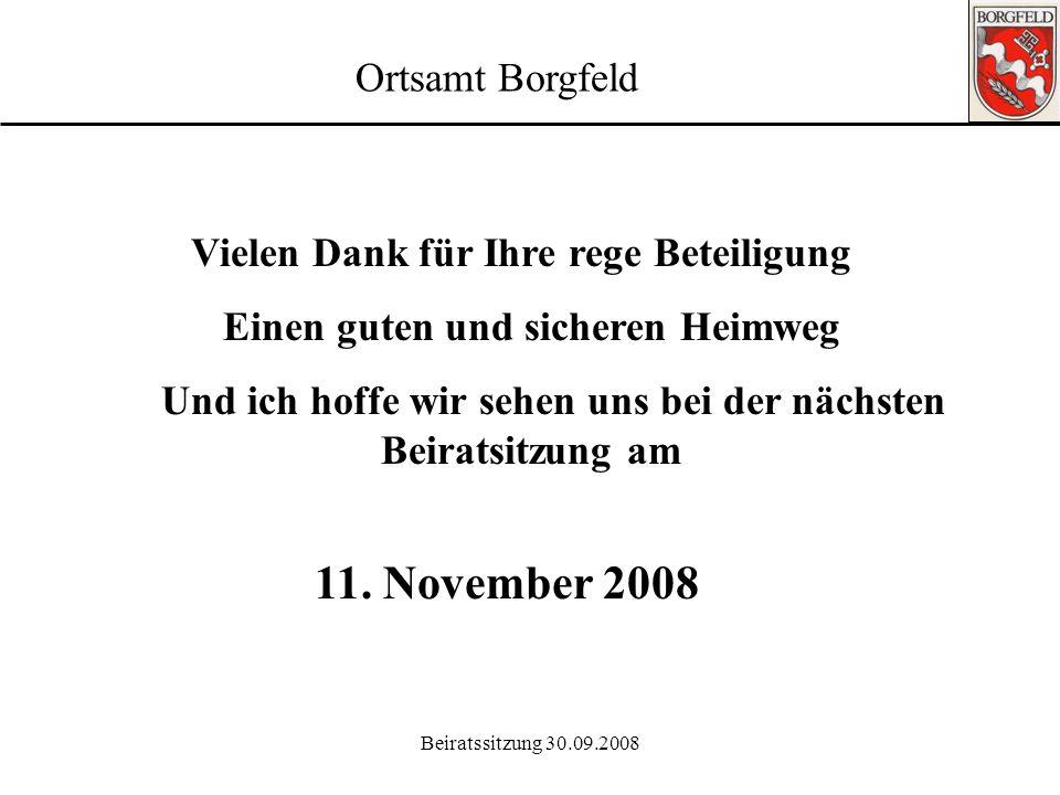 11. November 2008 Ortsamt Borgfeld
