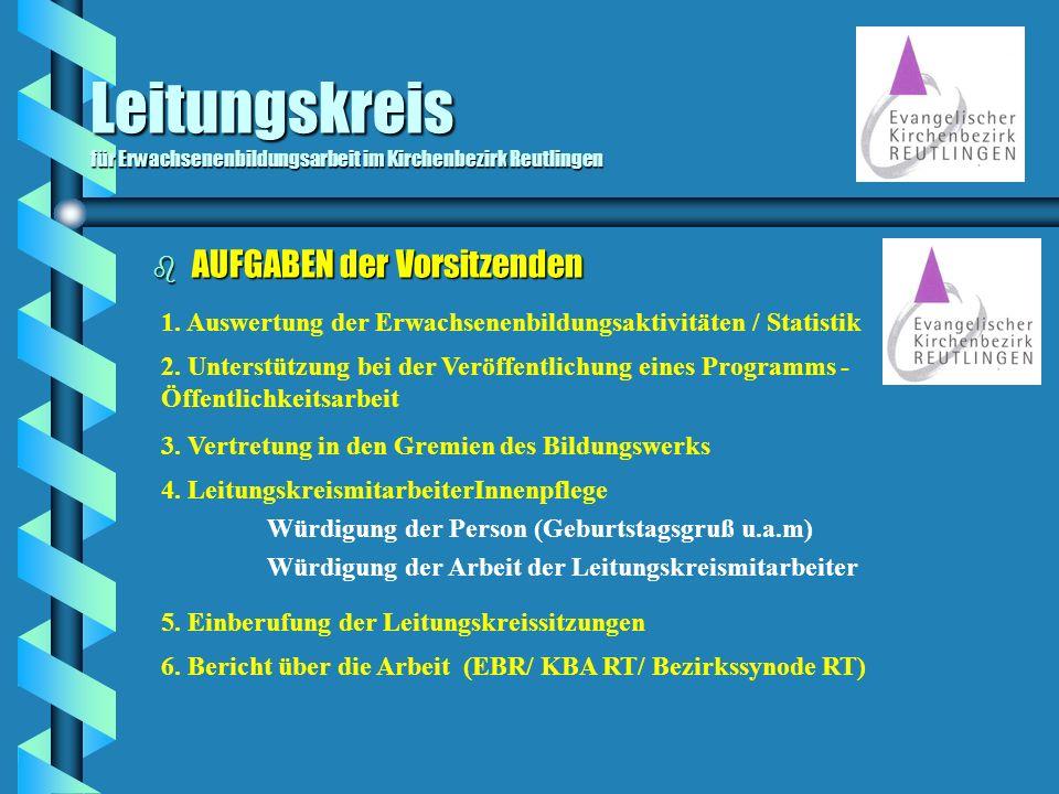 Leitungskreis für Erwachsenenbildungsarbeit im Kirchenbezirk Reutlingen