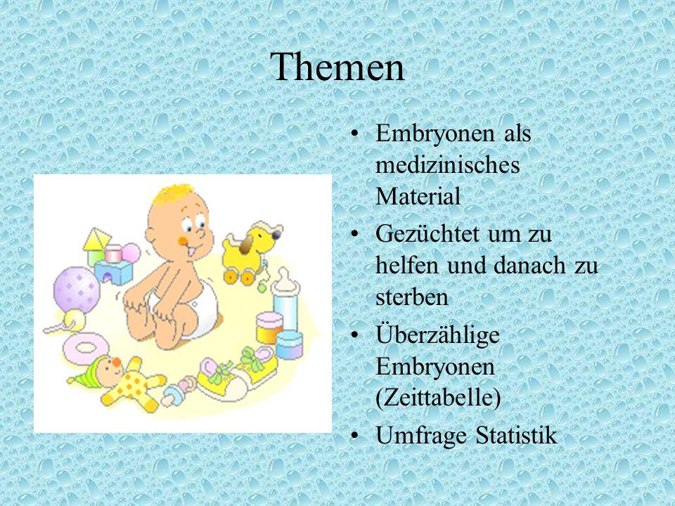 Themen Embryonen als medizinisches Material