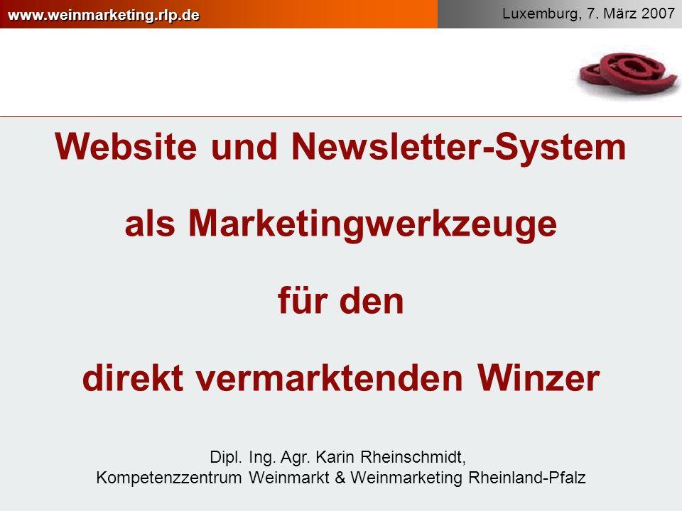 Website und Newsletter-System als Marketingwerkzeuge für den direkt vermarktenden Winzer