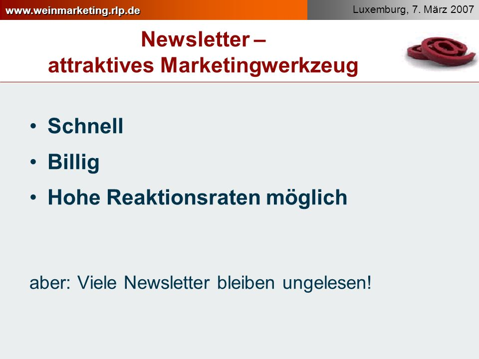 Newsletter – attraktives Marketingwerkzeug