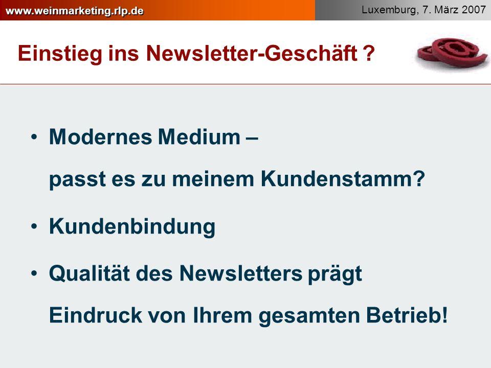 Einstieg ins Newsletter-Geschäft