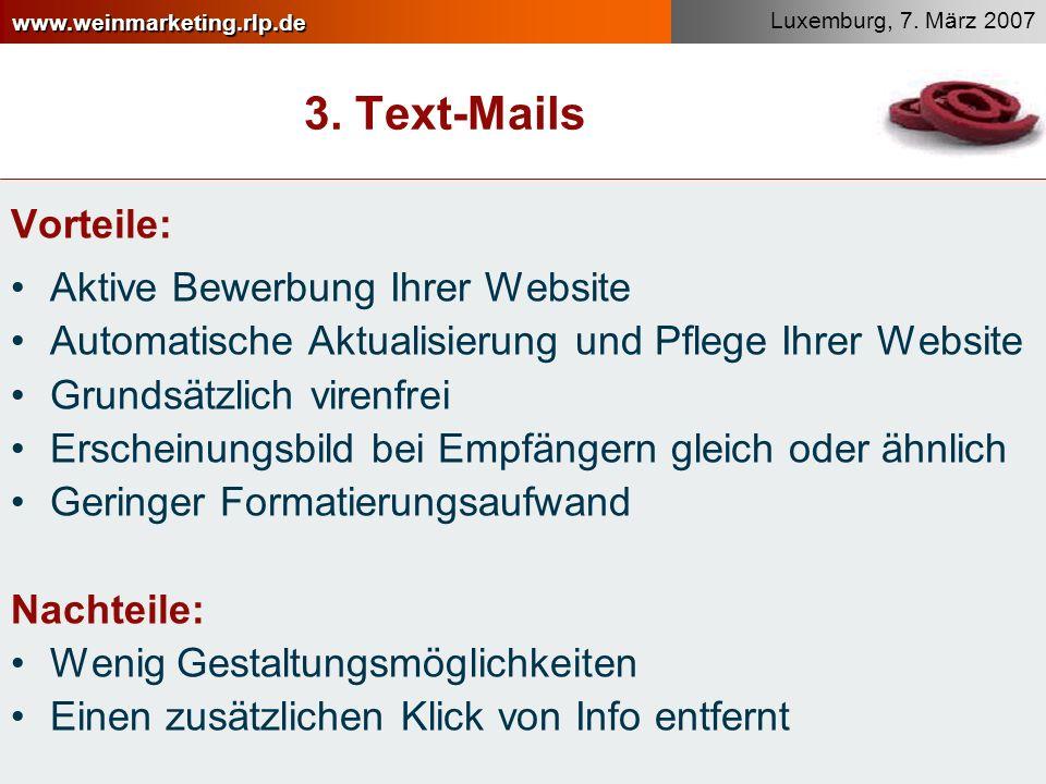 3. Text-Mails Vorteile: Aktive Bewerbung Ihrer Website