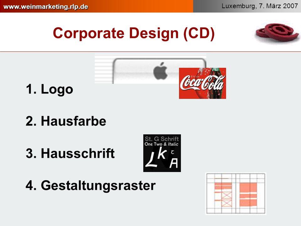 Corporate Design (CD) Logo Hausfarbe Hausschrift Gestaltungsraster
