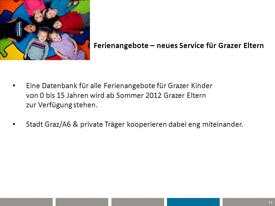 Ferienangebote – neues Service für Grazer Eltern