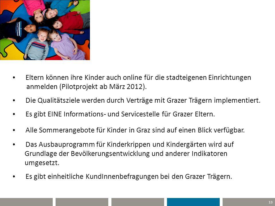 Es gibt EINE Informations- und Servicestelle für Grazer Eltern.