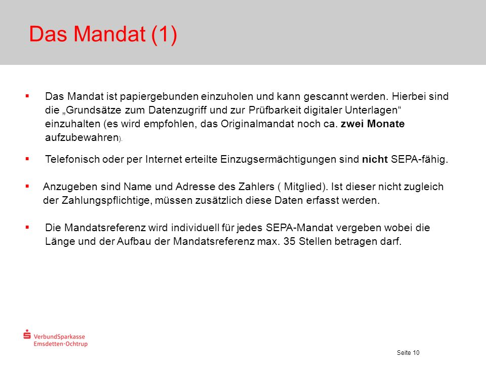 Das Mandat (1)