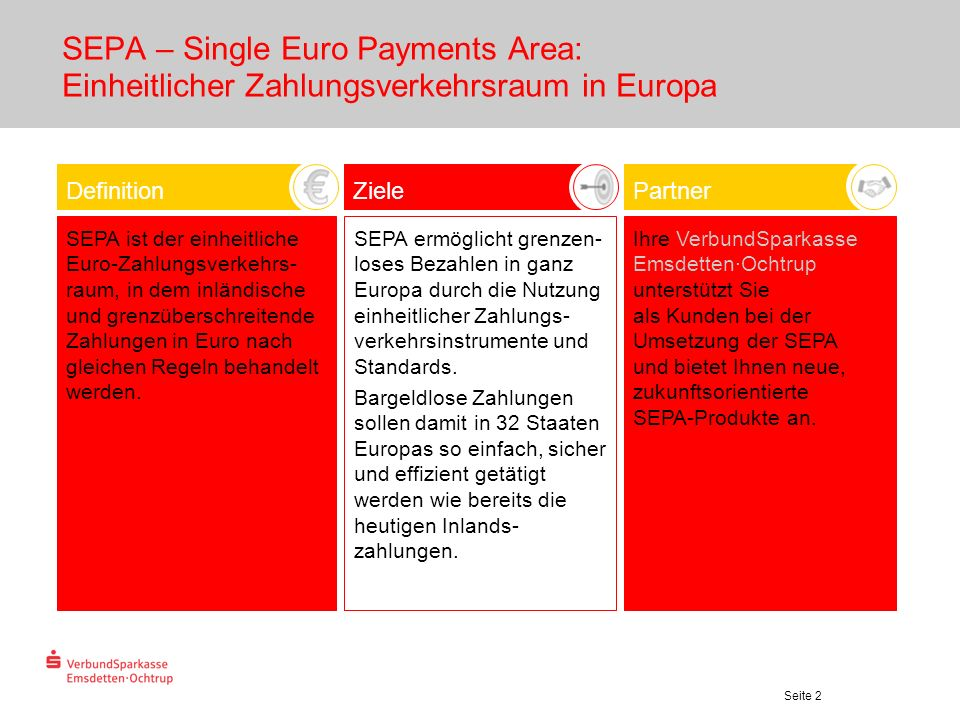 SEPA – Single Euro Payments Area: Einheitlicher Zahlungsverkehrsraum in Europa