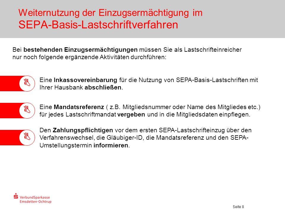 Weiternutzung der Einzugsermächtigung im SEPA-Basis-Lastschriftverfahren