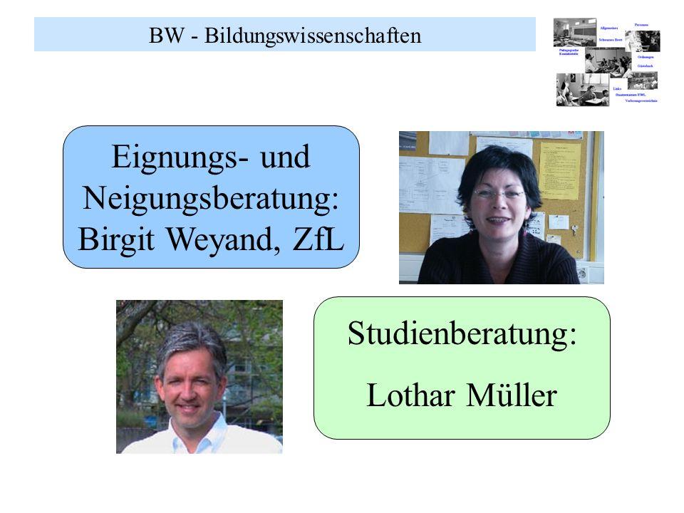 Eignungs- und Neigungsberatung: Birgit Weyand, ZfL