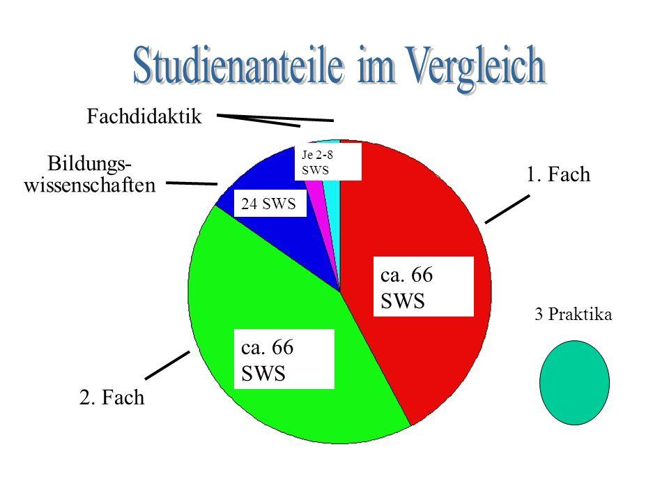 Studienanteile im Vergleich