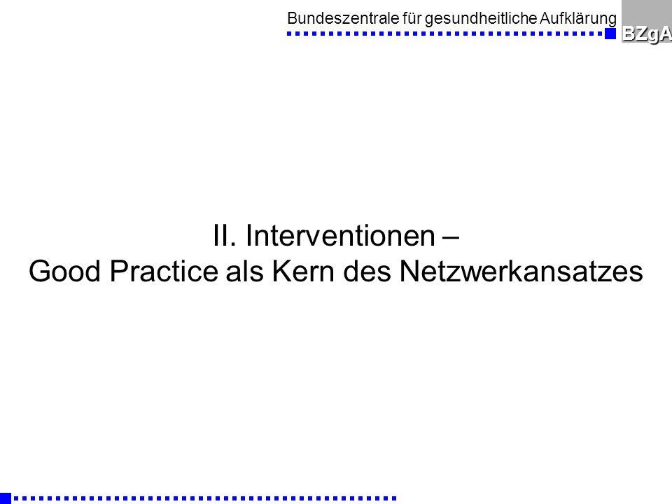 Good Practice als Kern des Netzwerkansatzes