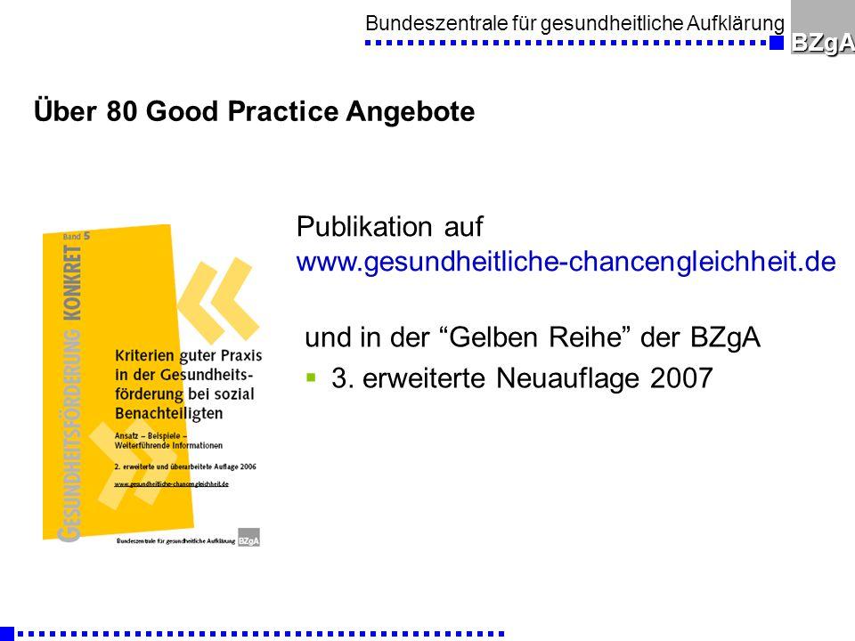 Über 80 Good Practice Angebote