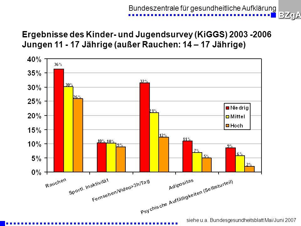 Ergebnisse des Kinder- und Jugendsurvey (KiGGS) 2003 -2006
