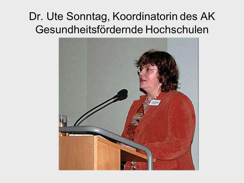 Dr. Ute Sonntag, Koordinatorin des AK Gesundheitsfördernde Hochschulen