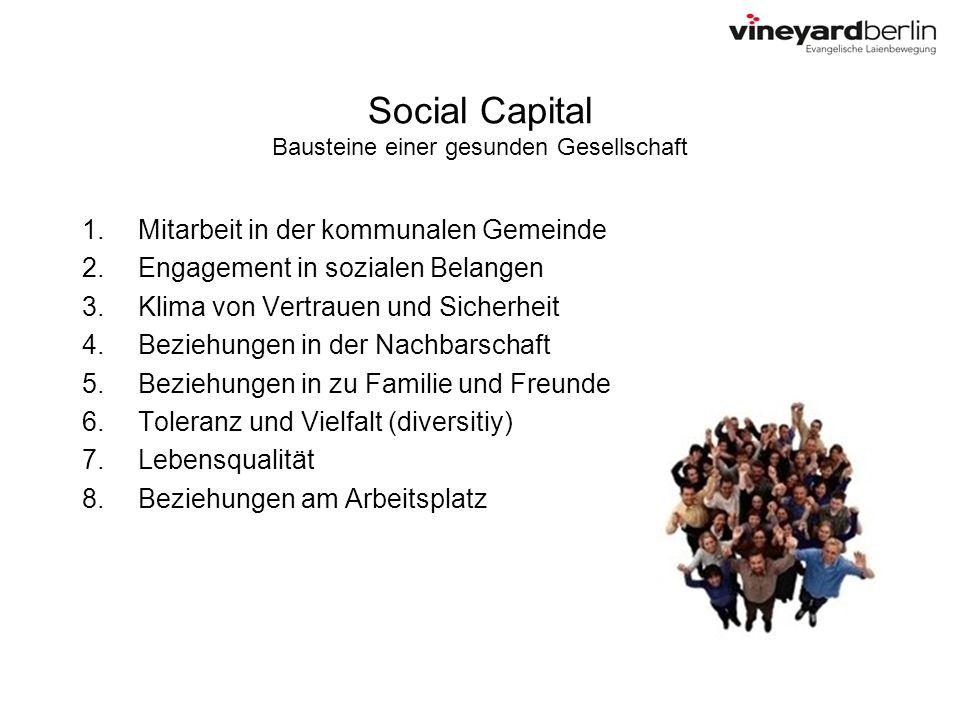 Social Capital Bausteine einer gesunden Gesellschaft