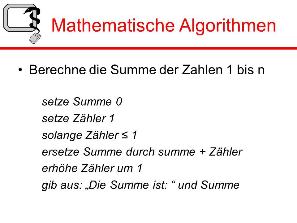 Mathematische Algorithmen