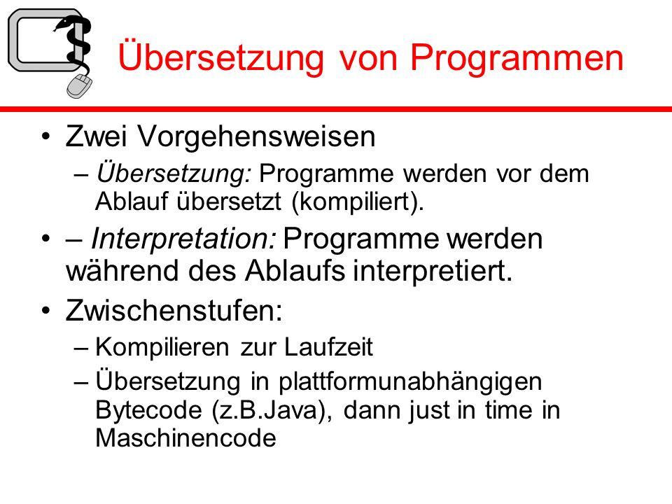 Übersetzung von Programmen