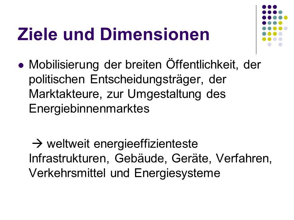 Ziele und Dimensionen