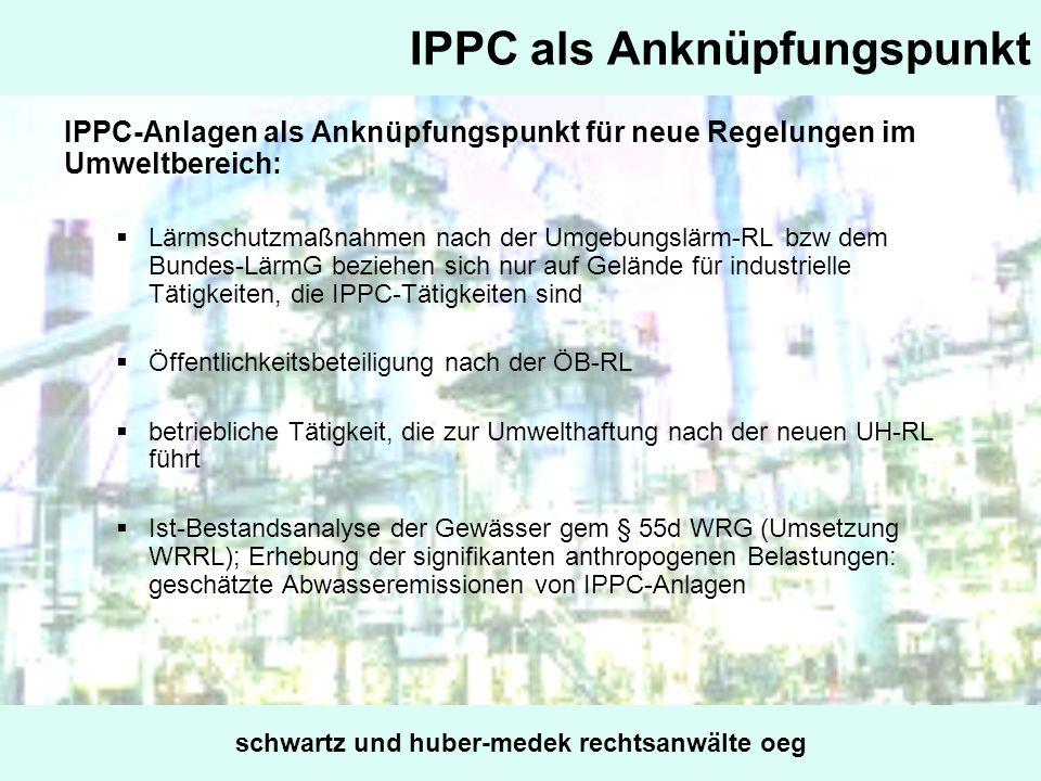 IPPC als Anknüpfungspunkt
