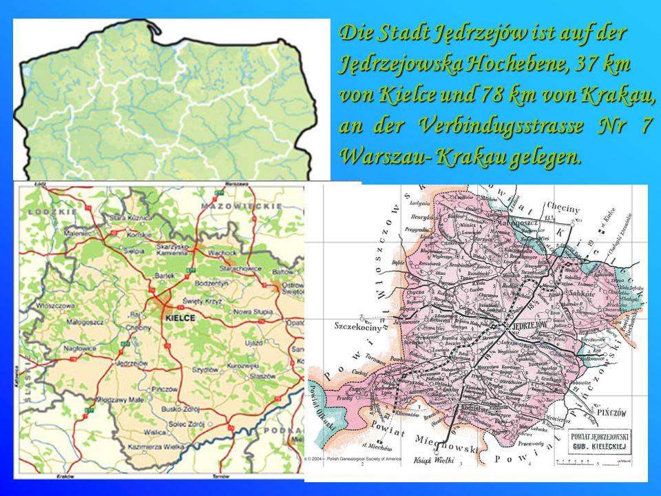 Die Stadt Jędrzejów ist auf der Jędrzejowska Hochebene, 37 km von Kielce und 78 km von Krakau, an der Verbindugsstrasse Nr 7 Warszau- Krakau gelegen.