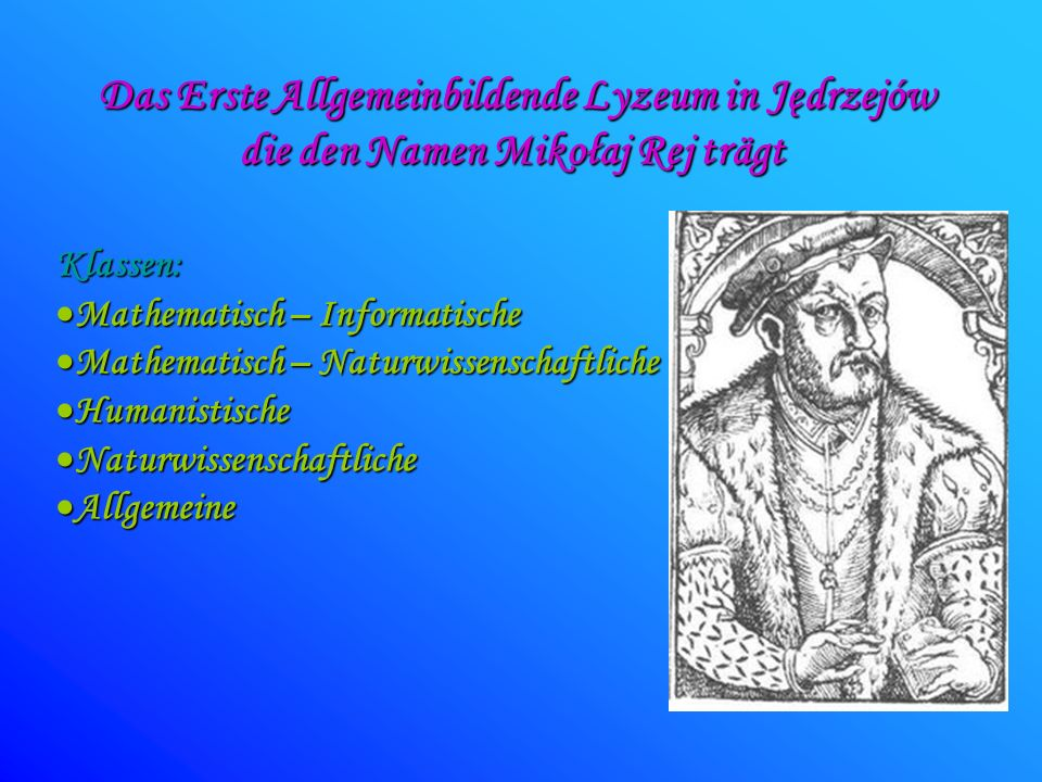 Das Erste Allgemeinbildende Lyzeum in Jędrzejów
