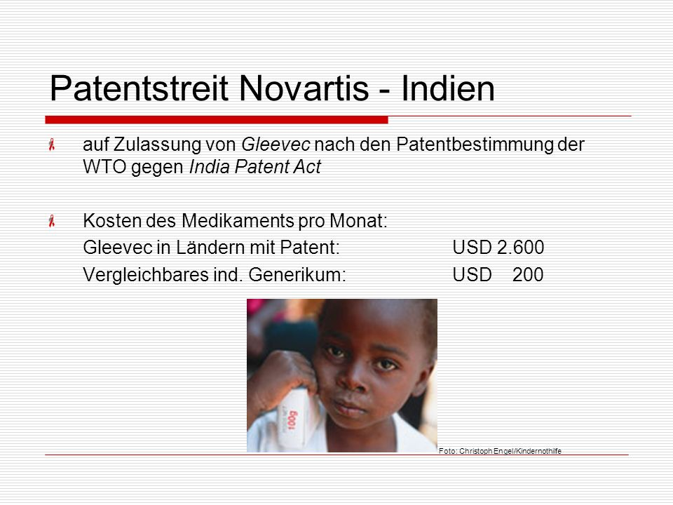 Patentstreit Novartis - Indien