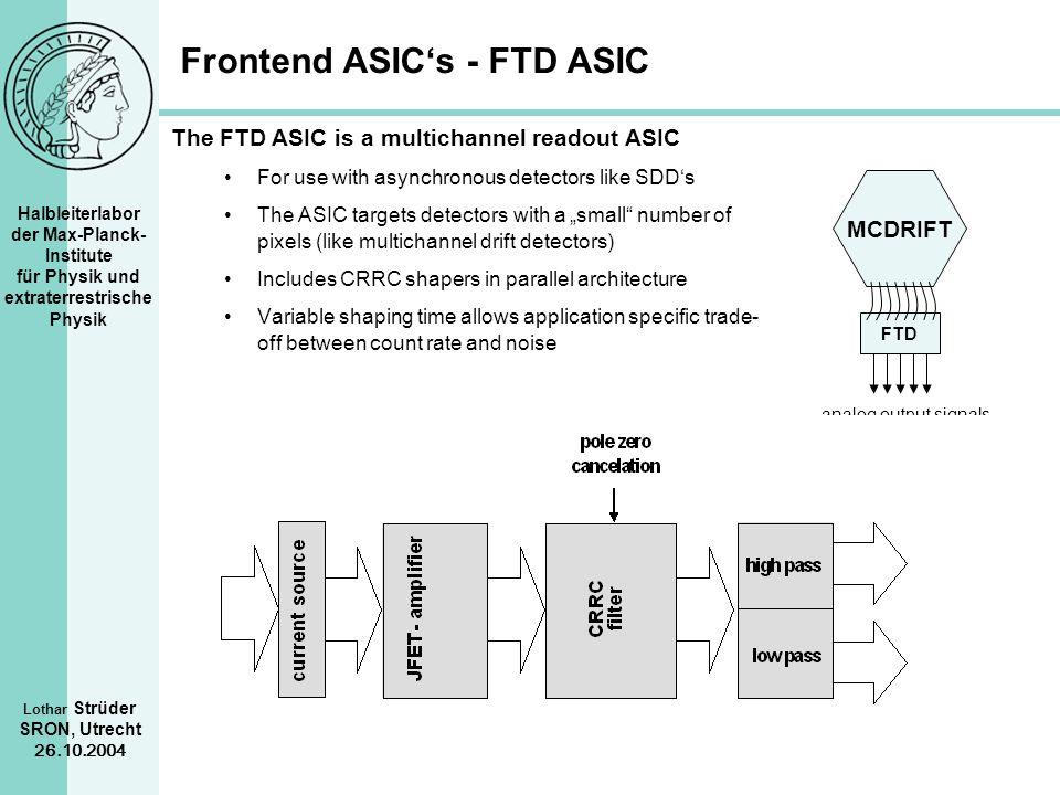 Frontend ASIC's - FTD ASIC