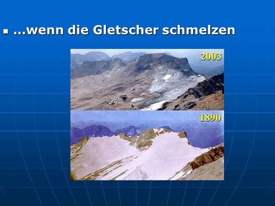 …wenn die Gletscher schmelzen