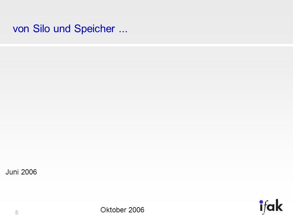 von Silo und Speicher ... Juni 2006 Oktober 2006