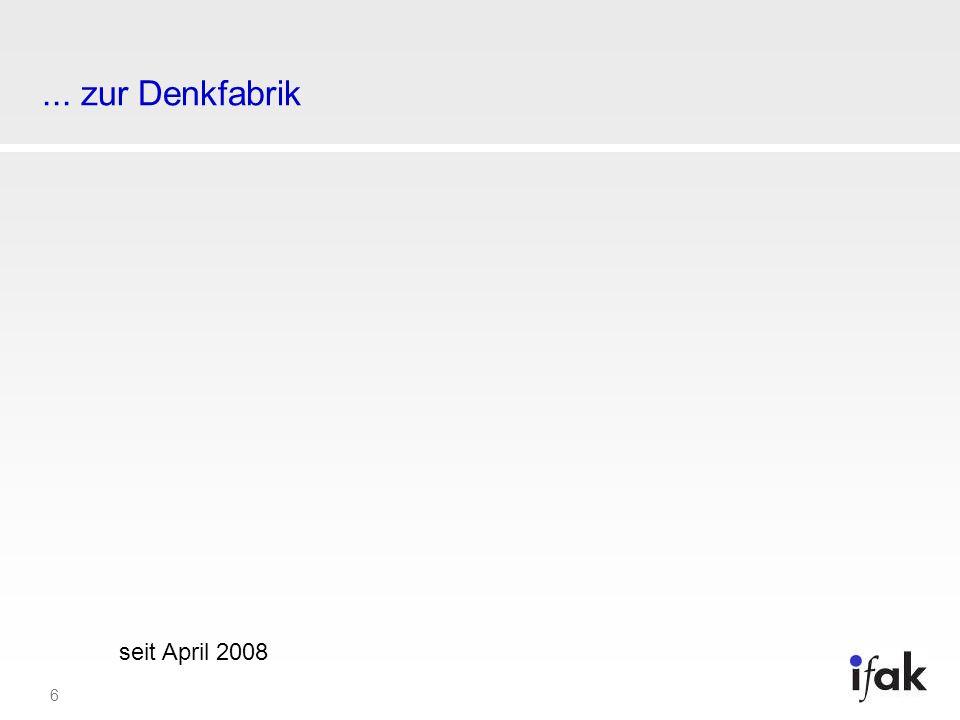 ... zur Denkfabrik seit April 2008