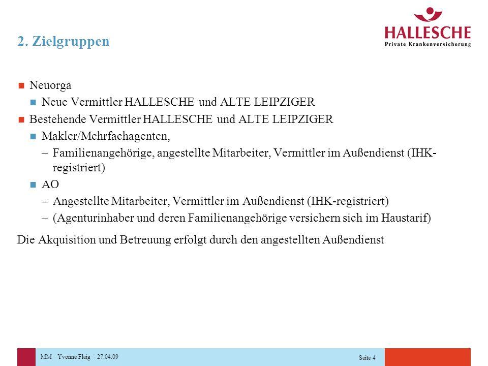 2. Zielgruppen Neuorga Neue Vermittler HALLESCHE und ALTE LEIPZIGER