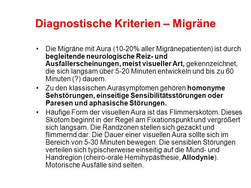 Diagnostische Kriterien – Migräne