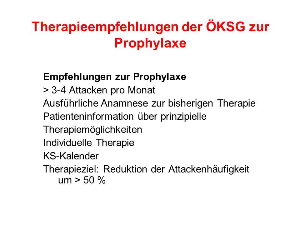 Therapieempfehlungen der ÖKSG zur Prophylaxe