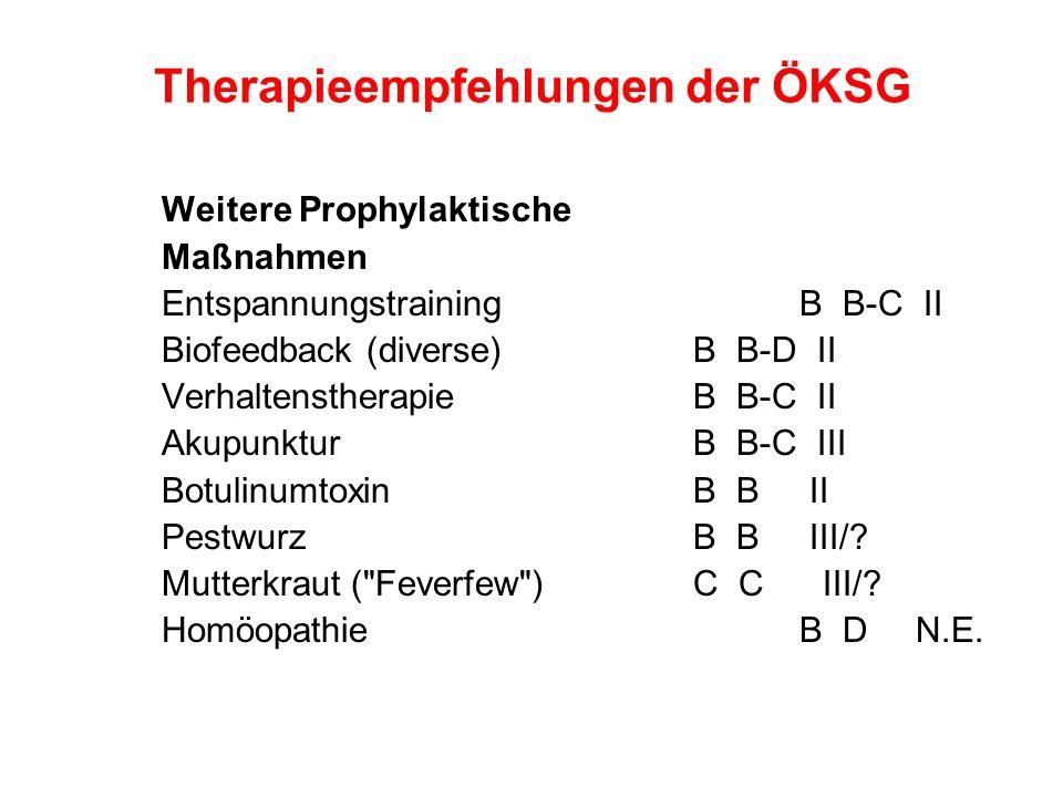 Therapieempfehlungen der ÖKSG
