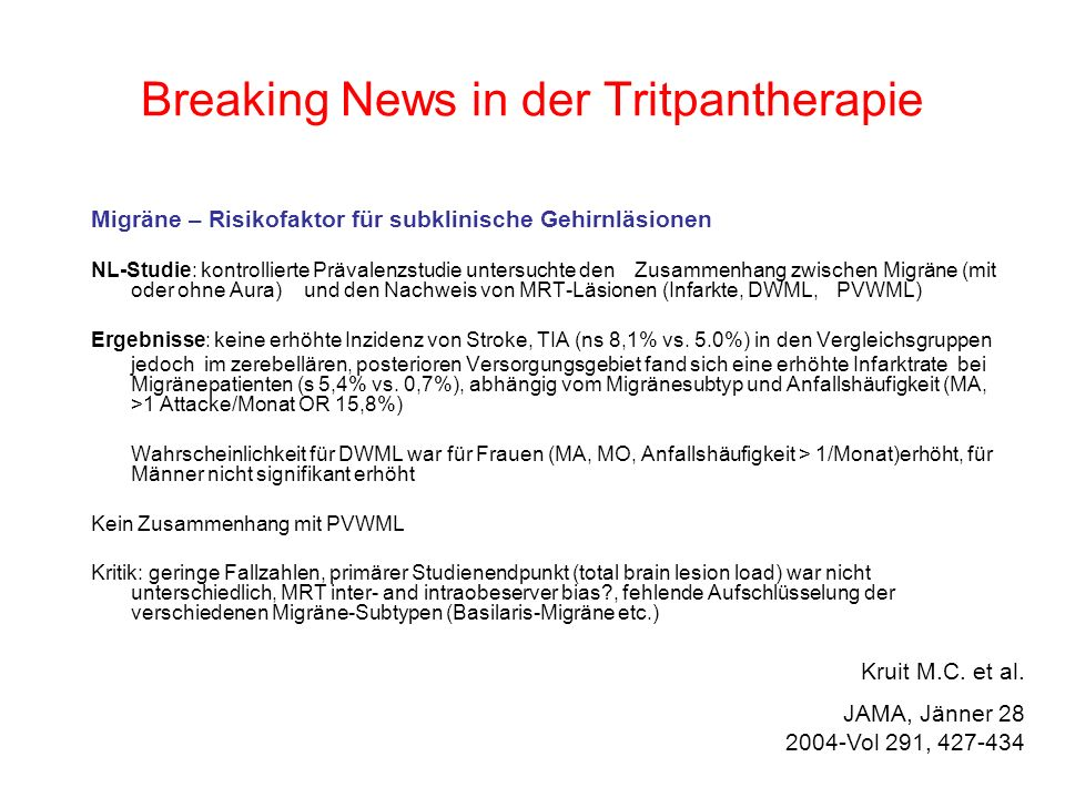 Breaking News in der Tritpantherapie