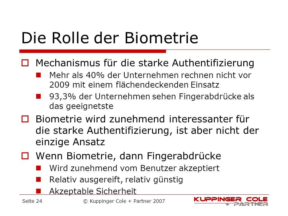 Die Rolle der Biometrie